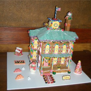 Gingerbread replica by Mary Hudgins, 2012
