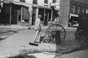 Street Sweeper, Green Bay, Wisconsin 1915